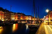 Morning View Of Famous Nyhavn Area In The Center Of Copenhagen, Denmark poster