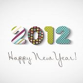 stock photo of new years  - Happy new year 2012 - JPG