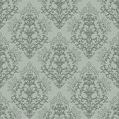 Seamless fern green floral wallpaper