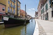 Alleyway. Comacchio. Emilia-Romagna. Italy.