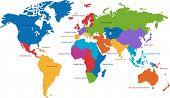picture of world-globe  - United Nations divides the world into macro - JPG
