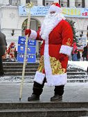 Russian Santa Claus (father Christmas) In National Suite At The Street