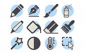 Shutterstock - Photo Editor Icon Pack 02.eps poster
