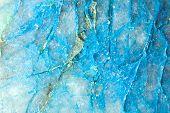 stock photo of lapis lazuli  - Macro shoot of Lapis lazuli stone mineral stone - JPG