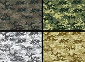 Vector illustration of camouflage collection