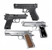 arma de mano, vector de la pistola