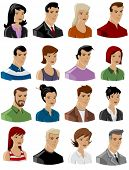 set of vector people icons