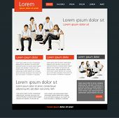 Website Template. Vector illustration.