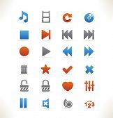 Set of beautiful web icons vol.5 Media player