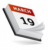 Постер, плакат: Вектор календарь Легко редактировать