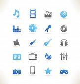 Set of beautiful web icons vol.8 Media