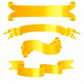 Vector yellow glossy banners.