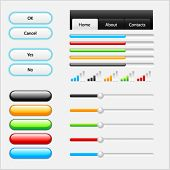 Vector set of web elements for your site