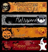 Halloween Banners, pumpkin with Teeth in the form of number thirty one
