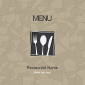 Restaurant menu design. Vector