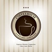 The concept of coffeehouse menu and label