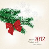 Christmas & New Year. Vector greeting card