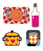 Kitchen objects. Vector illustration.
