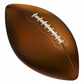 Isolated American football ball. Vector illustration.