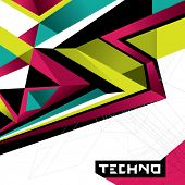 Designed abstract techno background. Vector illustration.