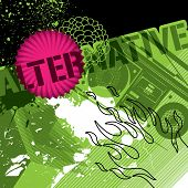 Conceptually designed banner with abstract elements. Vector illustration.