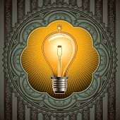 foto of flux  - Vintage background with old bulb - JPG