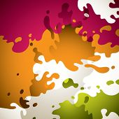 Colorful background with paint splashes. Vector illustration.