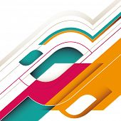 Abstract stylish background with modern shapes. Vector illustration.