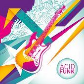 Acid funk background in color.