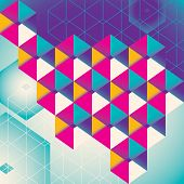 Colorful geometric abstraction. Vector illustration.