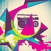 Urban colorful background. Vector illustration.