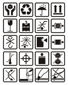 Vector symbols set of packing, shipping icons.
