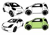 Eco-friendly cars vector illustration.