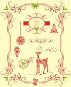 christmas set of design elements
