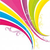 Rainbow, colorful banner