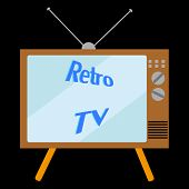 Old Retro Antique Hipster Vintage Picture Tube With A Convex Screen Of An Ancient Tv For Watching Tv poster