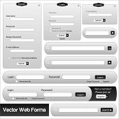 Vector Black Web Forms Template