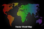 Rainbow Vector World Map