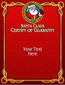 Santa Claus, Certify of Guaranty in vectors