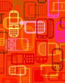 Fundo de Smartphones e celulares
