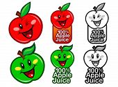Red and Green Apple Juice Seals