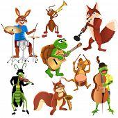 cartoon animals band