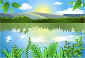 natural landscape on the riverside