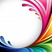 A splash of various colors - Background design for your text (raster version)