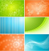 Set of six vector background designs