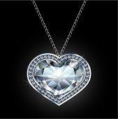 Diamond pendant illustration