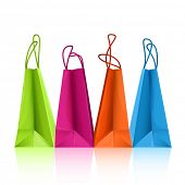 Vektor colorful Shopping bags