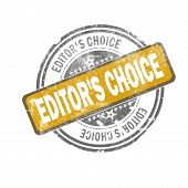 Editors Choice Yellow Vintage Stamp poster