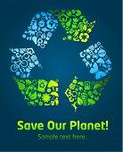 Постер, плакат: Сохранение нашей планеты Эко значок плакат шаблона