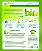 Green bio website template